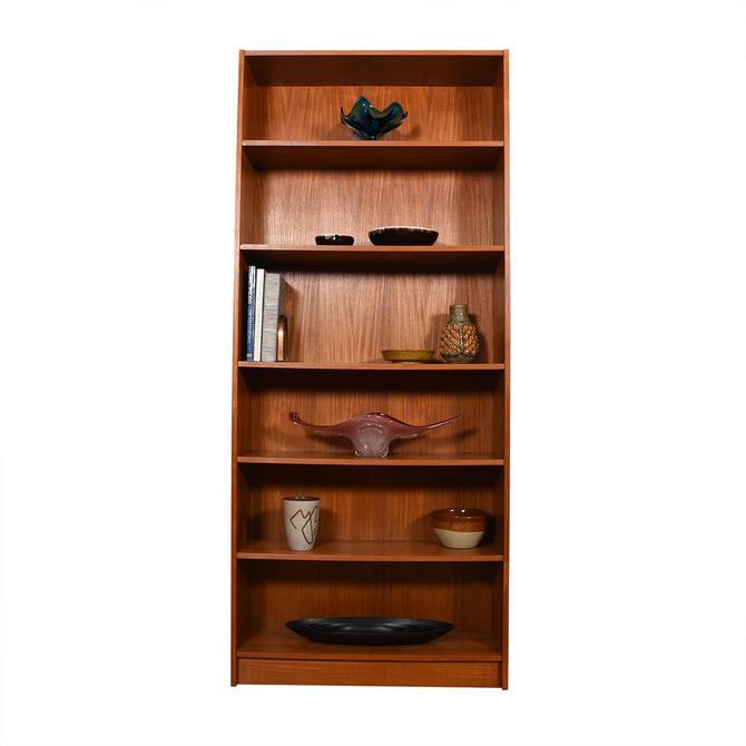Danish Extra-Tall Teak Bookcases w\/ Adjustable Shelves