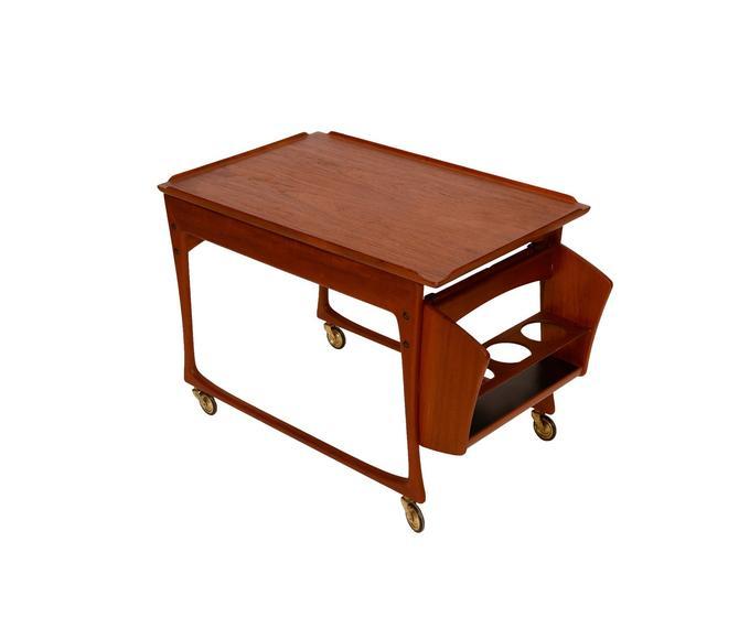 Teak Bar Cart Odense Mobler designed J. Ingvard Jensen Denmark Rolling tea cart Danish Modern   1960 by HearthsideHome