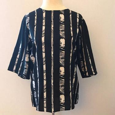 Vintage Striped Abstract Wood Grain Blouse by citybone