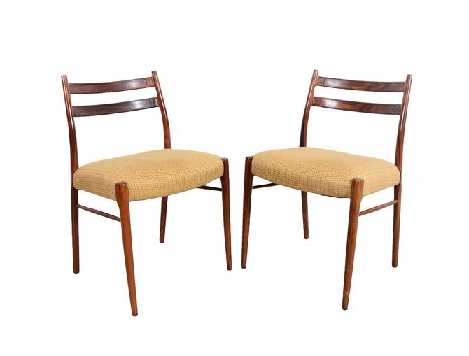 4 Rosewood Dining Chairs Arne Wahl Iversen for Glyngore Stolefabrik, Denmark by HearthsideHome