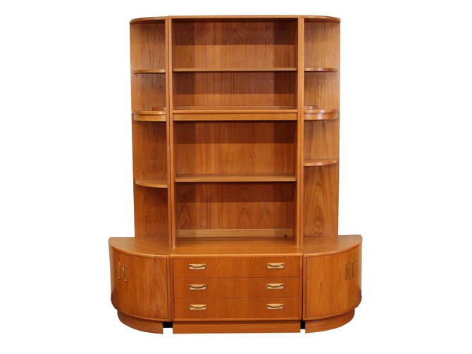 Mid Century 6 Piece Teak Wall Unit By G Plan by RetroPassion21