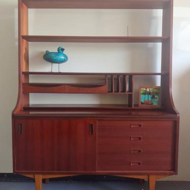 Danish Modern Rosewood Secretary Desk Bookshelf by ModandOzzie
