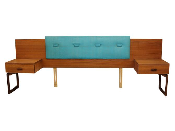 Mid Century Teak Queen Size Headboard By G Plan Quadrille by RetroPassion21