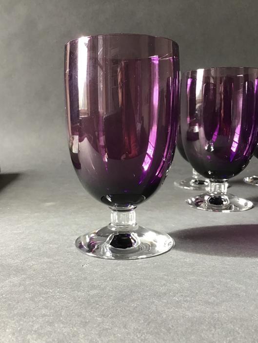Vintage Fostoria Amethyst Water or Ice Tea Glasses