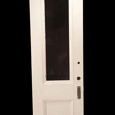 Antique 1 Lite Wood Entry Door 84.75 x 26