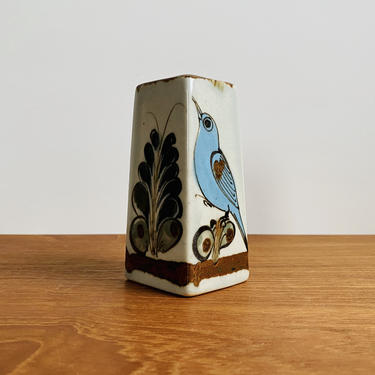 Vintage Ken Edwards bud vase / El Palomar pottery from Tonala, Mexico / mid-century boho decor by EarthshipVintage