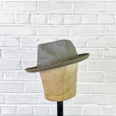 Size 7 1/4 Vintage 1940s 1950s Koko Kooler Showerproof Fedora Fishing Hat by BriarVintage