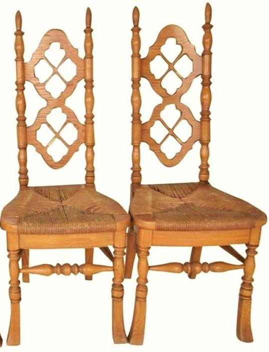 VINTAGE Dining Chairs, Rush Seat, Victorian, Jacobean Renaissance Styling, French Country Decor (Set of 2) Thomasville Chairs by 3GirlsAntiques
