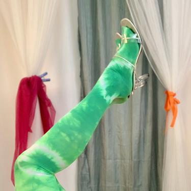 Recycled Slimer Tie Dye Tights by shopjournal
