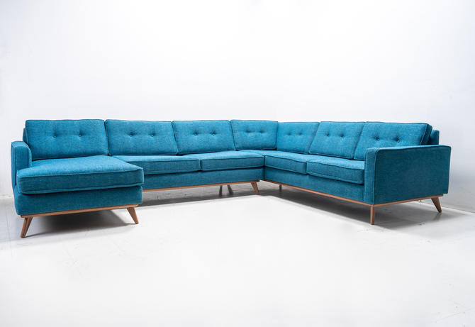 """Mid Century Danish Modern Sectional """"Playpen"""" Sofa by TDFurniture"""