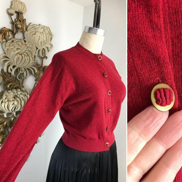RESERVED 1940s cardigan vintage cardigan wool cardigan red cardigan vintage sweater 1940s sweater 38 bust ballantyne cashmere sweater by melsvanity