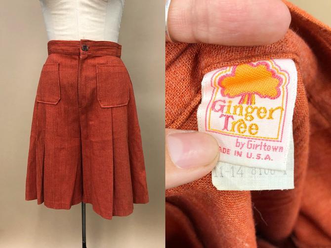 "Vintage 1970s Ginger Tree Rust Culottes, Bohemian Culottes, 70s Cotton Gauze Shorts, Bohemian Hippie, Size Medium, 29"" Waist by MobyDickVintage"