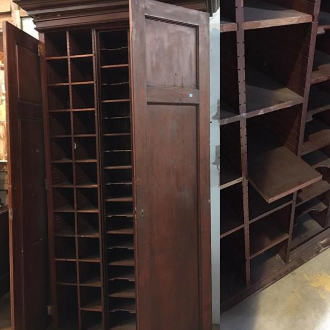 The Ultimate Shoe Storage Solution Vintage Armoire With Built In Cubbies Some Are Adjule