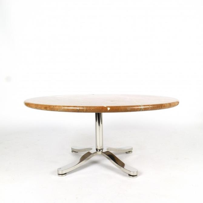 1960s Steel & Marble Cocktail Table