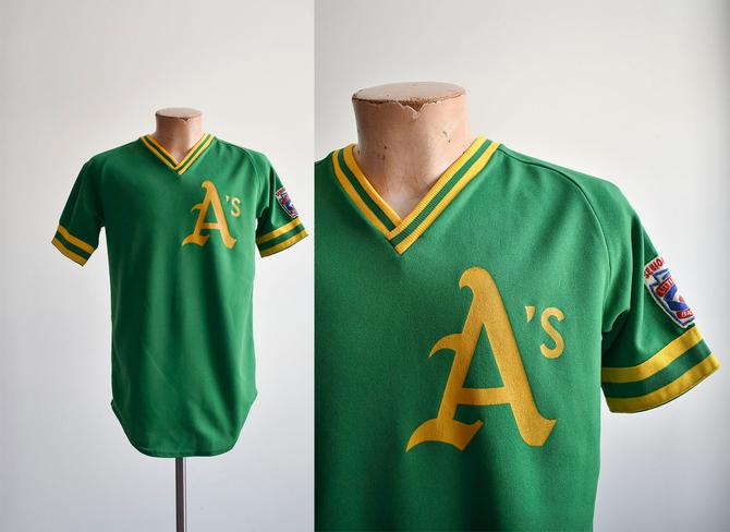 Vintage A's Little League Baseball Jersey by milkandice