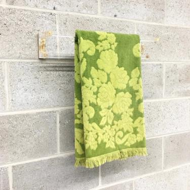 Vintage Monticello Towel Retro 1970s Cannon Mills + Mid Century Modern + Lime Green + Size 41x23 + 100% Cotton + MCM + Bathroom Decor by RetrospectVintage215
