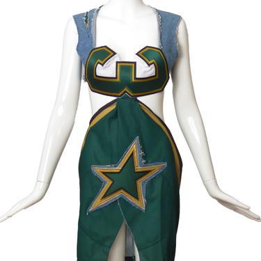 Stars Jersey & Denim Dress, Size-6
