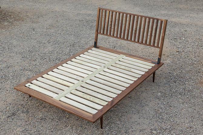 Park Ave. Walnut Bed Frame // by Kyle D'Auria // Mid Century Modern MCM by kyledauria