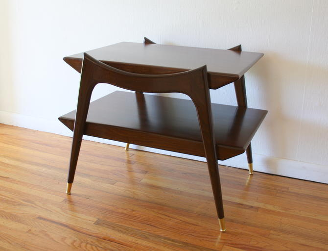 Mid Century Modern Floating Side End Table