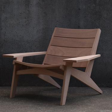 Modern Adirondack Chair with cupped slats by MarcoBogazziStore