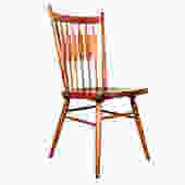 Set of 4 MCM Organic-Curved Spindle-Back Dining Chairs