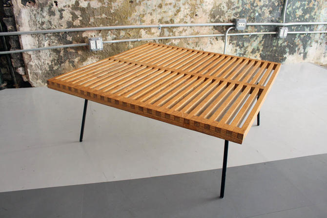 Early Slat Wood Coffee Table in The Manner of George Nelson (Prototype?)