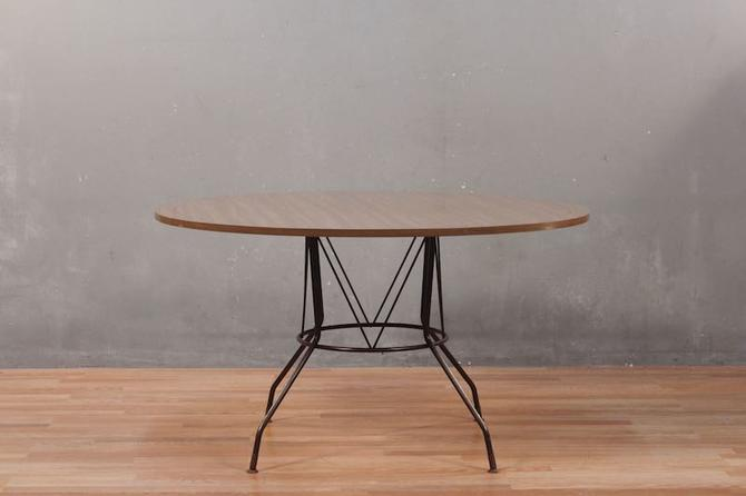 Richard McCarthy for Selrite Mid Century Laminate & Iron Dining Table – ONLINE ONLY
