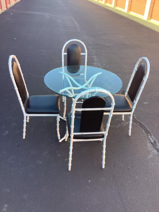Vintage Kessler faux bamboo patio / dining set by HolbrookBazaar