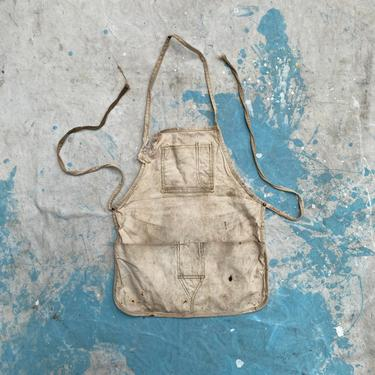Vintage Riveted Rustic Nail Apron by NorthGroveAntiques