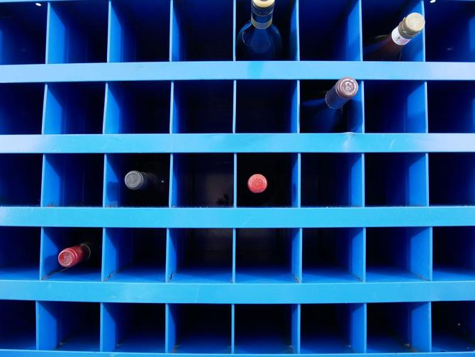 Industrial-style Wine Rack by SouliDesign