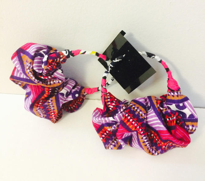 Beautiful Ankara Print Pocket book Earrings, 100% Cotton, African print by PriscArts
