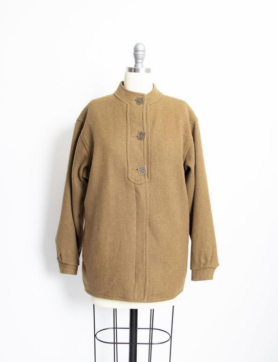 Vintage 1960s Ski Jacket Wool Green 60s Small S by dejavintageboutique