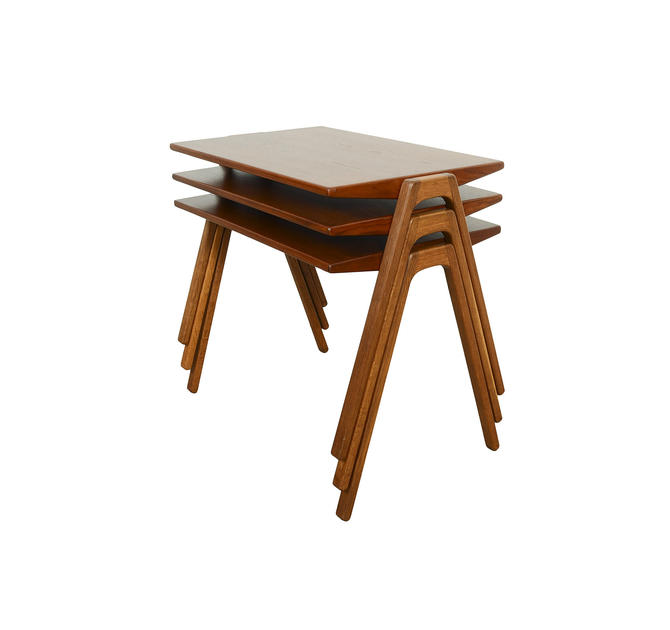 Teak Nesting Tables IDG International Designers Group Denmark by HearthsideHome