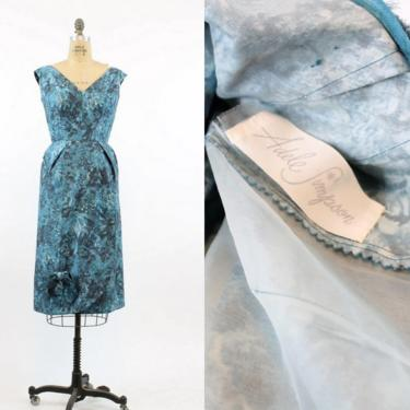 1950s Adele Simpson sarong dress xs | vintage cotton floral dress | new in by CrushVintage