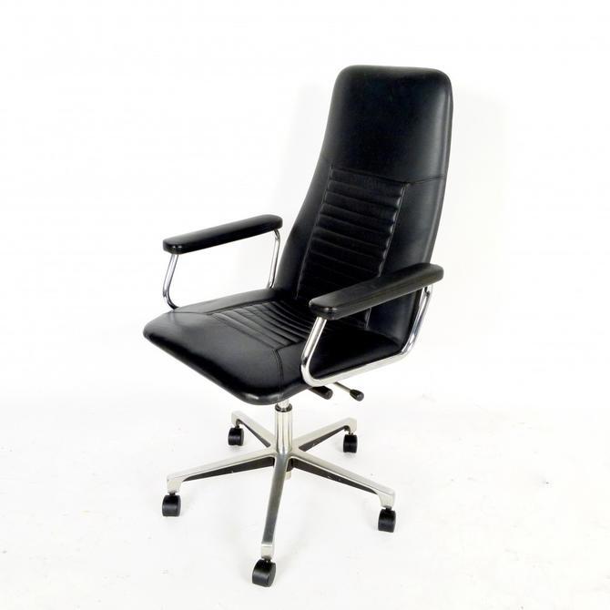 Swedish Adjustable Leather Desk Chair