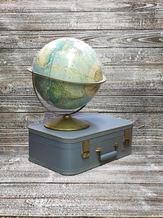 Vintage Rand McNally World Portrait Globe, Educational School Rotating Globe with Raised Elevations, Mid Century Modern, Vintage Home Decor by AGoGoVintage
