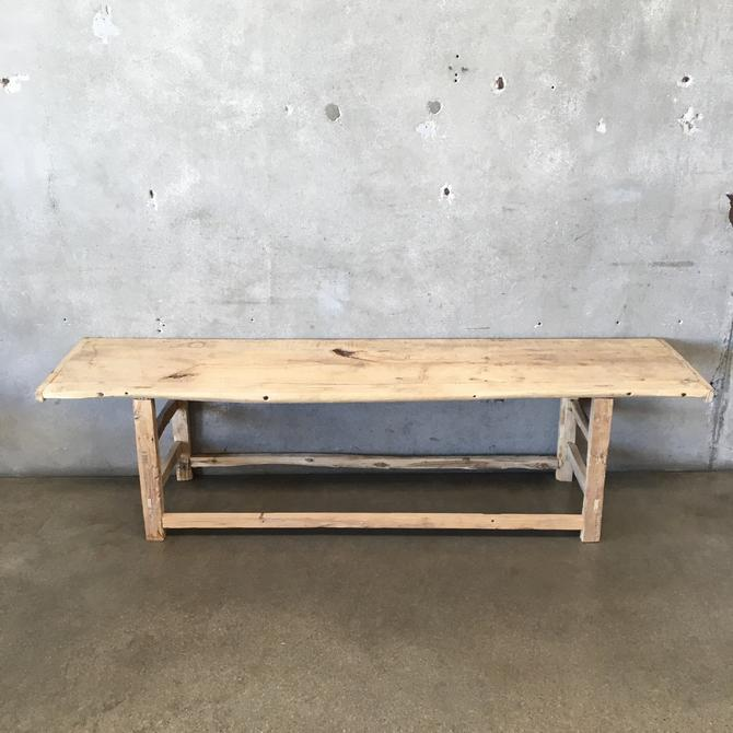 Antique Wood Bench / Coffee Table