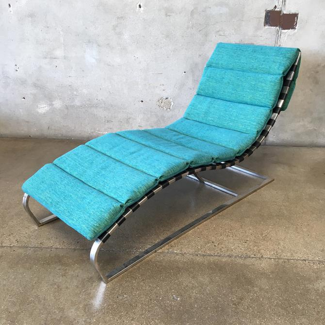 Metal Lounge Chairs with Leather Straps by Oviedo