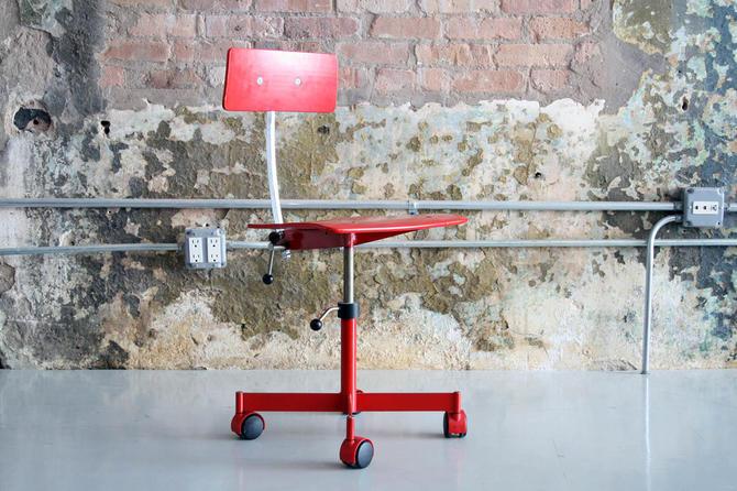 Danish 'Kevi' task / desk chair in Red!