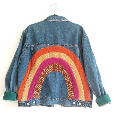 Rainbow Babe Jean Jacket