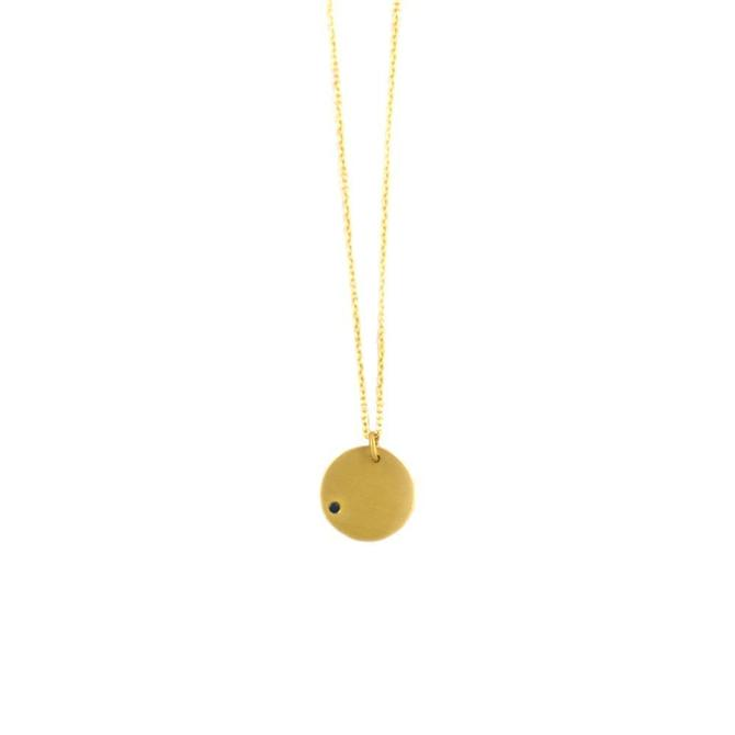 Sapphire Disc Necklace