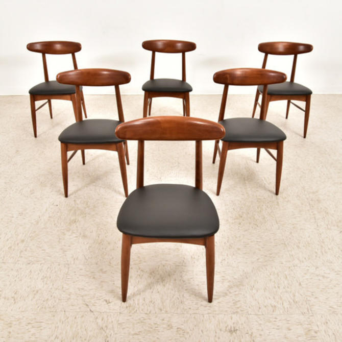 Vintage Set of 6 Danish Dining Chairs