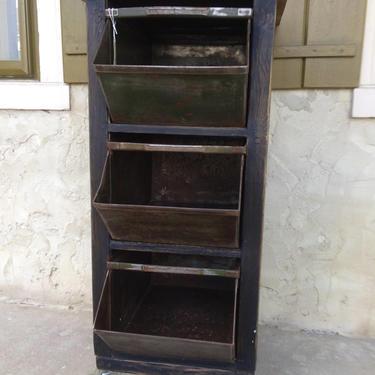 Industrial rustic stockable metal bins storage cabinet. by SouliDesign