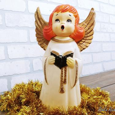Plastic Lighted Lidco Inc Blow Mold Caroling Singing Angel Night Light Christmas Decoration by RedsRustyRelics