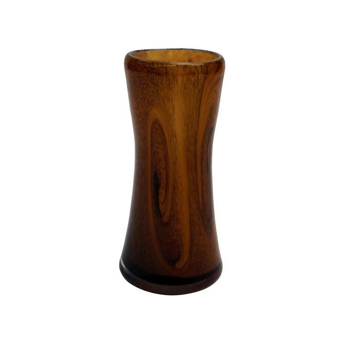 Organic Modern Faux Bois Handblown Glass Vase by MetronomeVintage