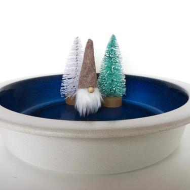 "Vintage Heath Ceramics Large Opal Blue Moonstone Bowl, 11 1/2"" Heath Rim Line Serving Bowl, Edith Heath Sausalito California Dinnerware by HerVintageCrush"