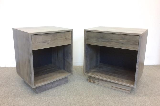 FREE SHIPPING Night Stands Side Tables Oxidized Maple by dylangrey