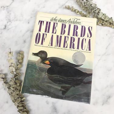 Vintage The Birds of America Book Retro 1980s John James Audubon + Hardcover + Illustrations + American Wilderness + Home Decor by RetrospectVintage215