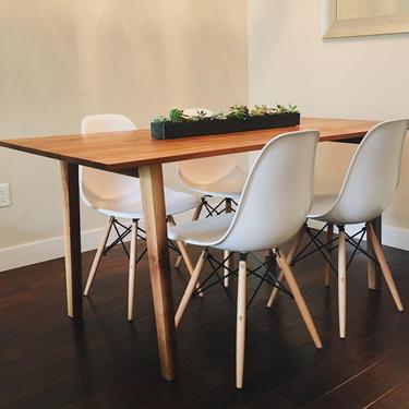 Midcentury Walnut Dining Table by BevelDownDesign