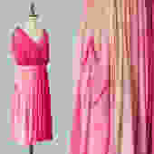 RARE!!! 1920s Dress / 20s Layered Ombre Pink Dress / Incredible Construction / Hot Pink to Pale Baby Pink / Goddess Gown by GuermantesVintage